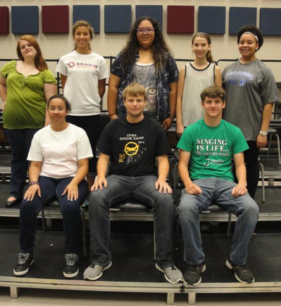 Front row L - R:  Daysja Rosenbaum, Troy Freeman, John Moorman Back row L-R:  Catie Krueger, Michelle Rigsby, Jennifer DeLeon, Jillian Steen, MoNae Anderson