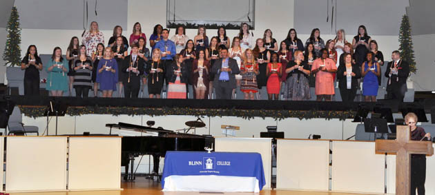 Photo of FUTURE NURSES RECOGNIZED AT BLINN COLLEGE PINNING CEREMONY