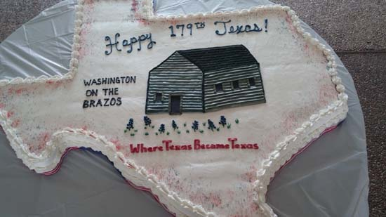 The Texas-sized cake for the Texas Independence Day celebration