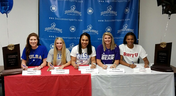 Photo of FIVE BUC VOLLEYBALL PLAYERS SIGN WITH 4-YEAR SCHOOLS