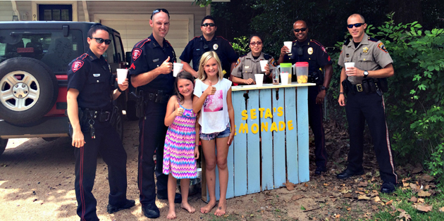 """Photo of BRENHAM POLICE COOL OFF BY """"BUYING LOCAL"""""""