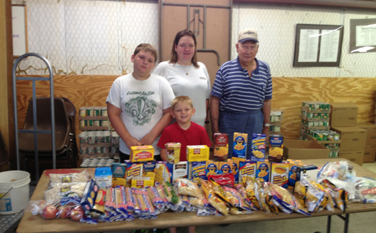 Photo of FRIEDENS CHURCH MAKES MONTHLY BREAD PARTNER DONATIONS