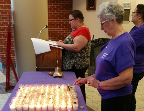 Photo of PROBLEM OF DOMESTIC VIOLENCE HIGHLIGHTED AT CANDLELIGHT VIGIL
