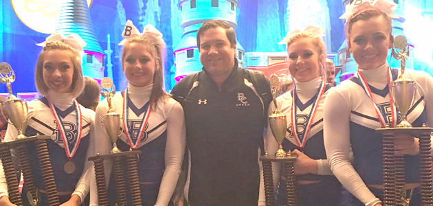 Photo of BLINN CHEER STUNT TEAM TAKES BRONZE AT NATIONALS