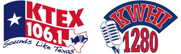 KTEX - KWHI dual logo