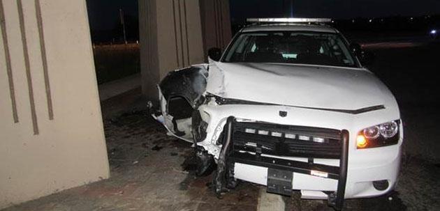 Photo of BRENHAM POLICE OFFICER UNINJURED IN CAR ACCIDENT