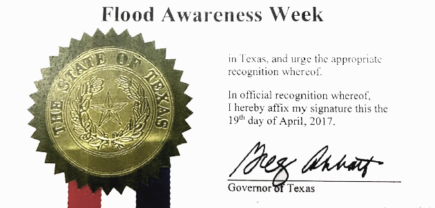 Photo of FLOOD AWARENESS WEEK RECOGNIZED BY COMMISSIONERS