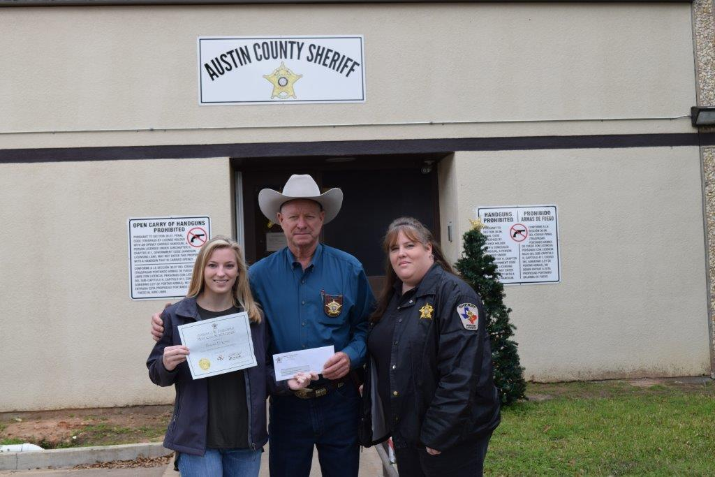 SHERIFF'S ASSOCIATION OF TEXAS HONORS DAUGHTER OF AUSTIN CO