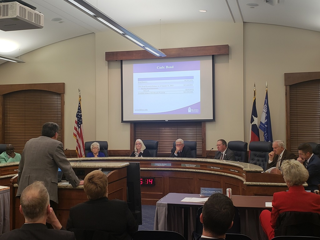 BLINN BOARD CONSIDERING TUITION AND FEE INCREASES FOR NEW