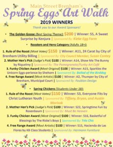 WINNERS ANNOUNCED FOR SPRING EGGS ART WALK   KWHI com