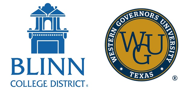 BLINN COLLEGE, WGU TEXAS TO ENTER INTO HIGHER EDUCATION