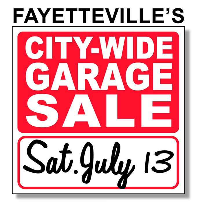 FAYETTEVILLE TO HOLD CITY-WIDE GARAGE SALE NEXT SATURDAY