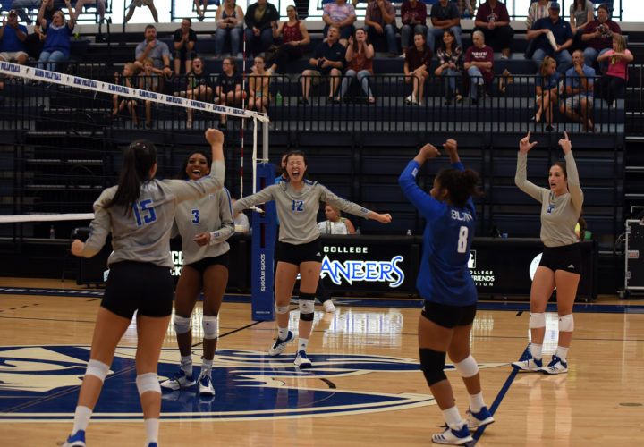 Photo of NO. 20 BLINN VOLLEYBALL EARNS SWEEP OVER VICTORIA, 3-0
