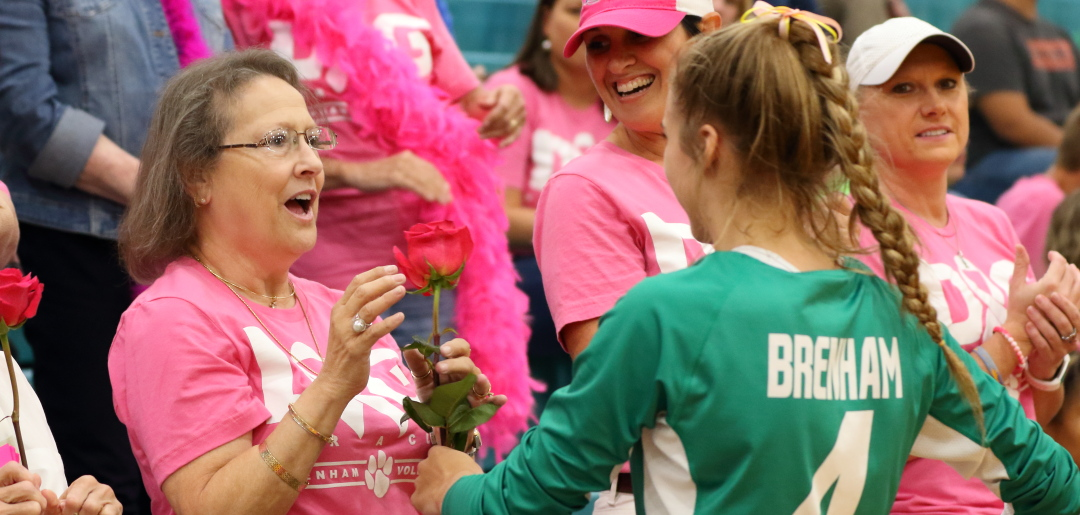 Photo of BRENHAM CUBETTES VOLLEYBALL VICTORIOUS ON DIG PINK NIGHT