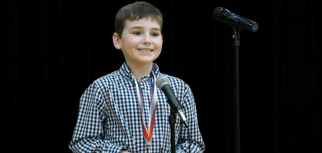 Photo of CORBIN BROOKS ADVANCES TO HOUSTON SPELLING BEE AS ALTERNATE