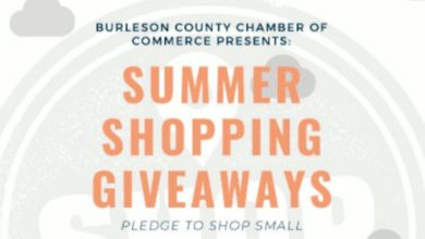 Photo of BURLESON CO. CHAMBER HOSTING SUMMER SHOPPING GIVEAWAY CAMPAIGN