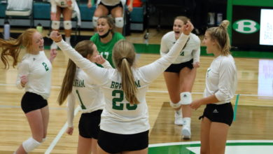 Photo of BRENHAM CUBETTE VOLLEYBALL OPENS SEASON WITH WIN OVER MAYDE CREEK