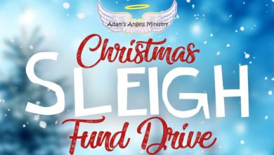 Photo of ADAM'S ANGELS HOLDING CHRISTMAS SLEIGH FUND DRIVE