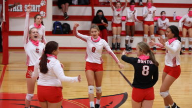 Photo of BURTON VOLLEYBALL HEADS INTO PLAYOFFS WITH WIN – OPEN PLAYOFFS NEXT THURSDAY