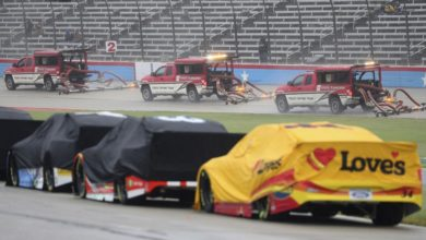 Photo of RAIN WIPES OUT NASCAR AT FT. WORTH FOR SECOND STRAIGHT DAY