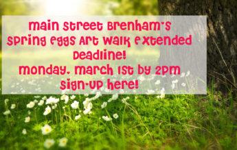 Spring Egg Art Walk – Registration Extended!