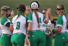 Photo of BRENHAM CUBETTE SOFTBALL RUN PAST A&M CONSOLIDATED