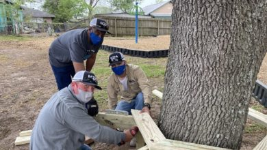 Photo of LCRA INSTALLS NEW BENCH AT JERRY WILSON PARK FOR 'STEPS FORWARD DAY'