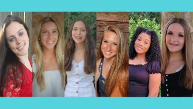 Photo of SIX VYING FOR CROWN OF FAYETTE CO. FAIR QUEEN