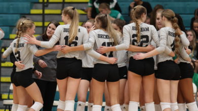Photo of CUBETTES FALL; LADY PANTHER ROLL IN VOLLEYBALL ACTION