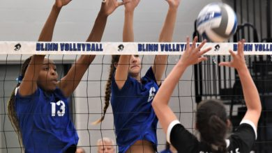 Photo of BUC VOLLEYBALL TEAM ROLLS PAST TRINITY VALLEY, 3-0